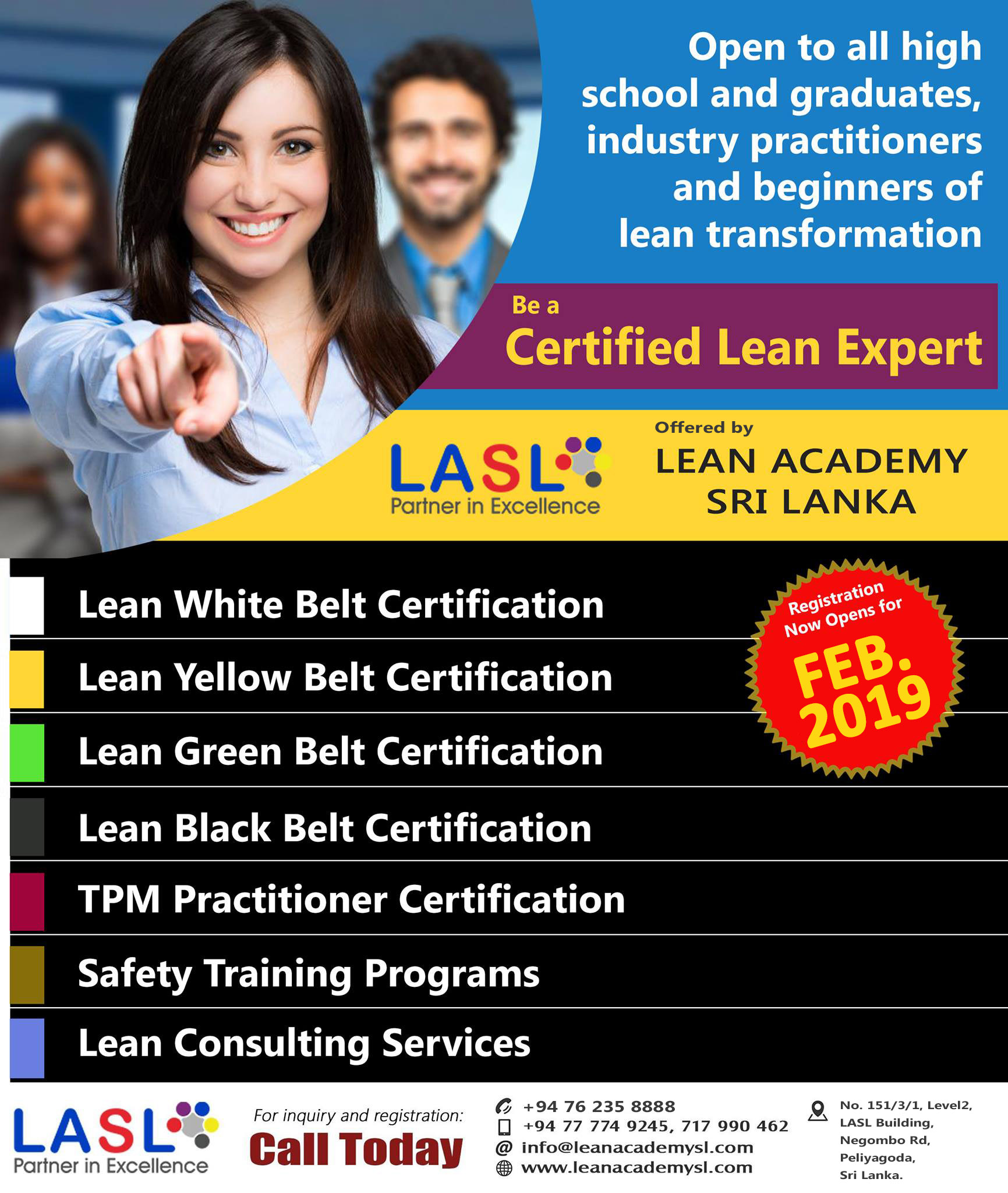 LASL REGISTRATIONS NOW OPEN FOR February and March 2019