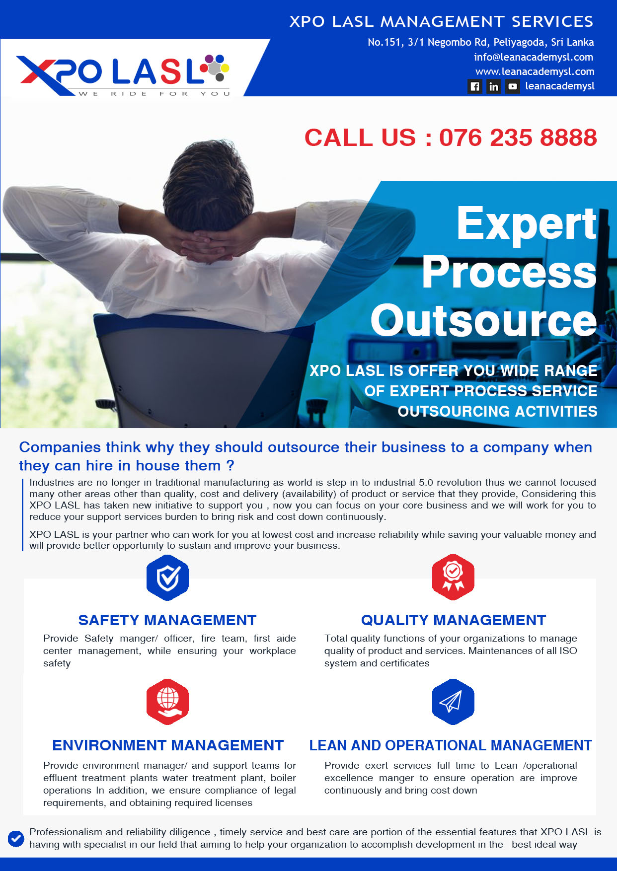 Xpo LASL introduce Expert Process Outsource Service