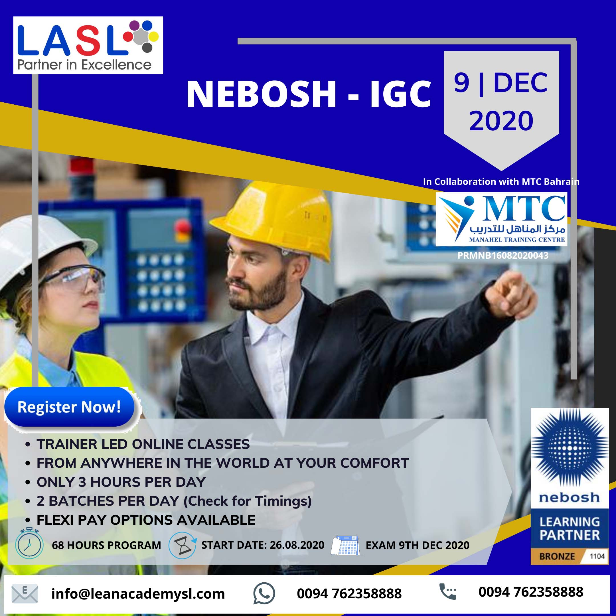 NEBOSH- IGC ( NEBOSH –International General certificate )