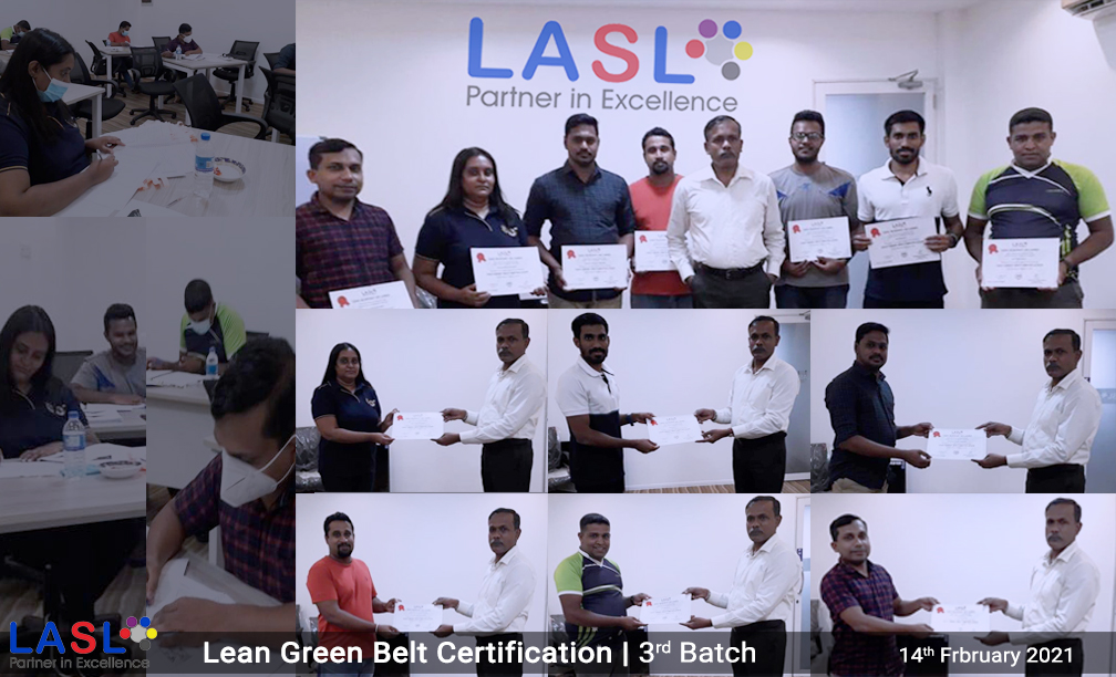 Lean Green Belt Certification 3rd Batch